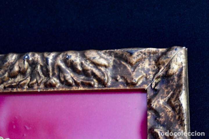 Arte: Espléndido cuadro de pintura cuzqueña con remate en hilo de oro - Foto 9 - 244230975