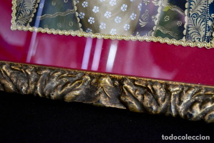 Arte: Espléndido cuadro de pintura cuzqueña con remate en hilo de oro - Foto 10 - 244230975
