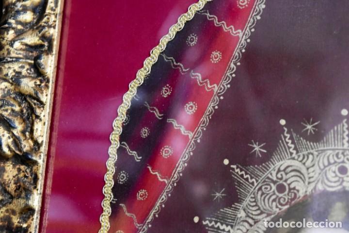 Arte: Espléndido cuadro de pintura cuzqueña con remate en hilo de oro - Foto 11 - 244230975