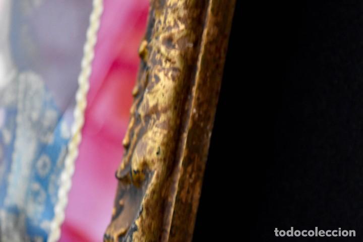 Arte: Espléndido cuadro de pintura cuzqueña con remate en hilo de oro - Foto 14 - 244230975