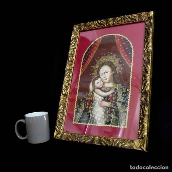 Arte: Espléndido cuadro de pintura cuzqueña con remate en hilo de oro - Foto 17 - 244230975