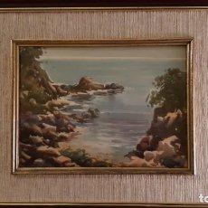 Arte: ACUARELA ENMARCADA, ORIGINAL FIRMA SERRET, AÑOS 70. Lote 244412405