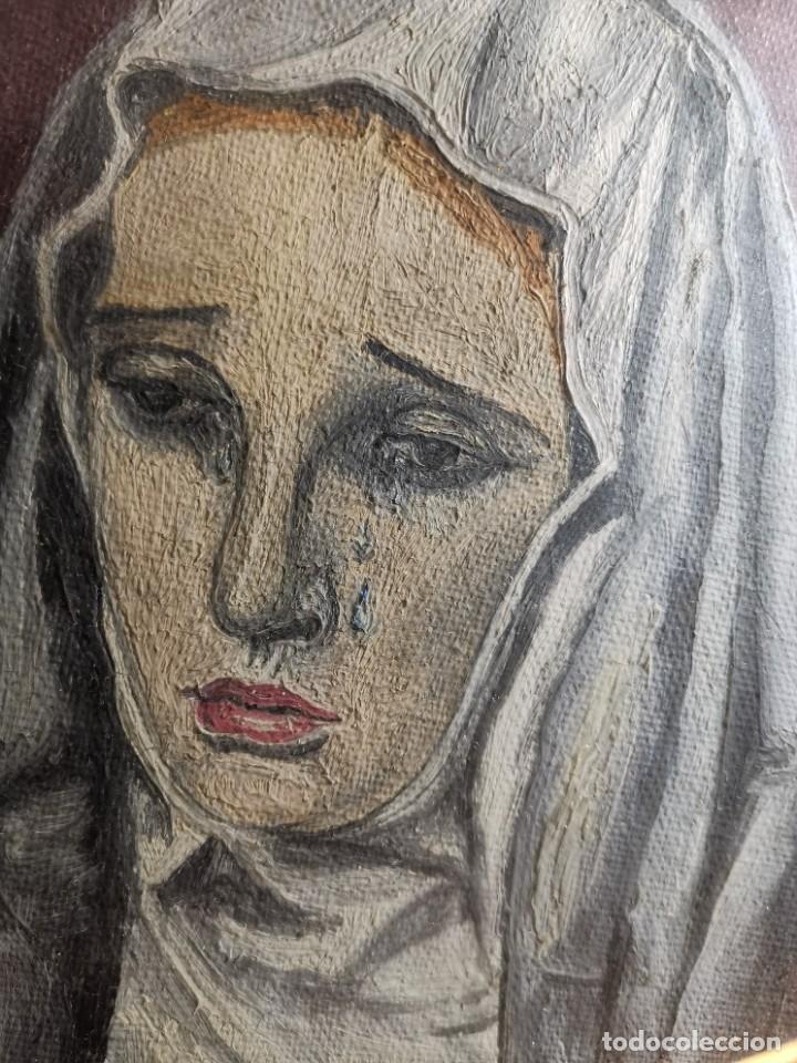 Arte: OLEO VIRGEN LLORANDO--DOLORES - Foto 5 - 244418280
