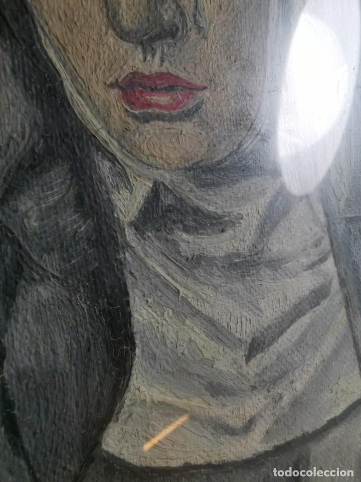 Arte: OLEO VIRGEN LLORANDO--DOLORES - Foto 9 - 244418280