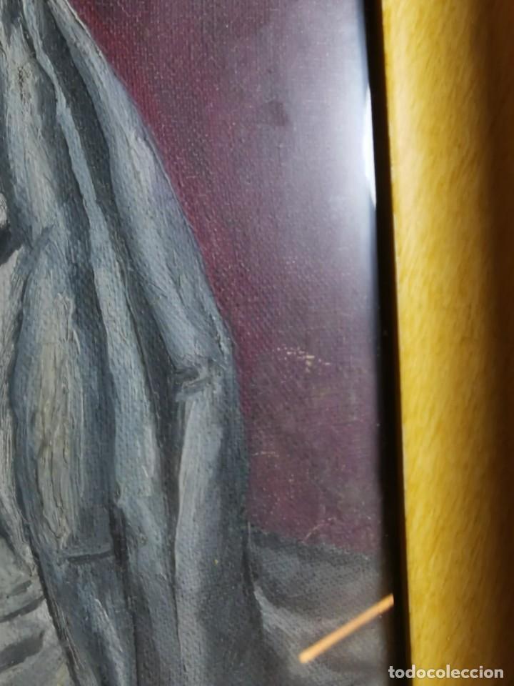 Arte: OLEO VIRGEN LLORANDO--DOLORES - Foto 10 - 244418280