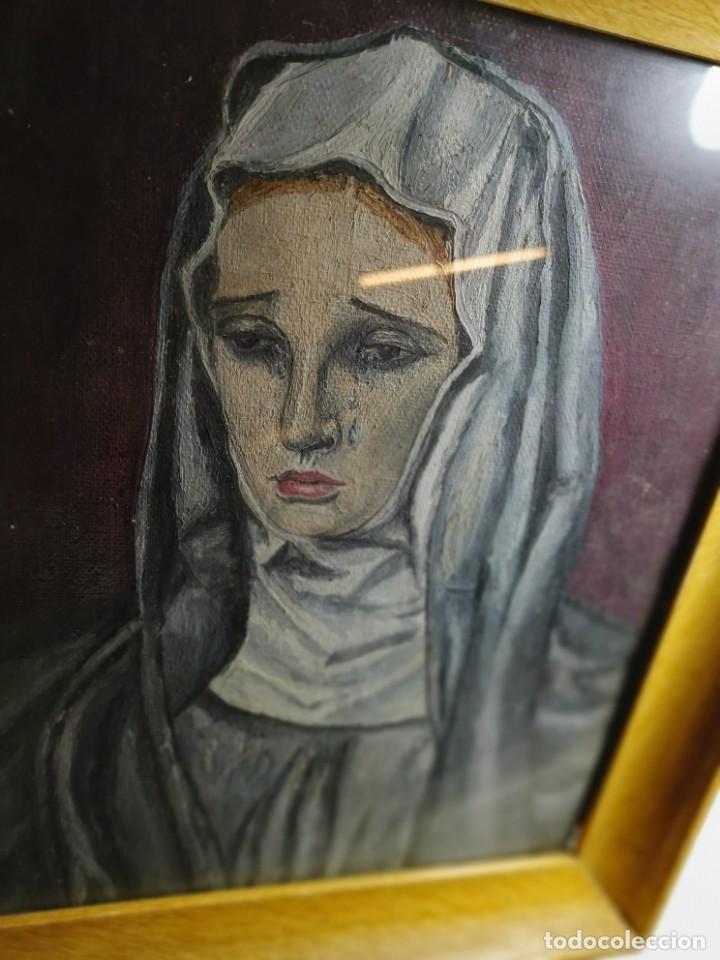 Arte: OLEO VIRGEN LLORANDO--DOLORES - Foto 24 - 244418280