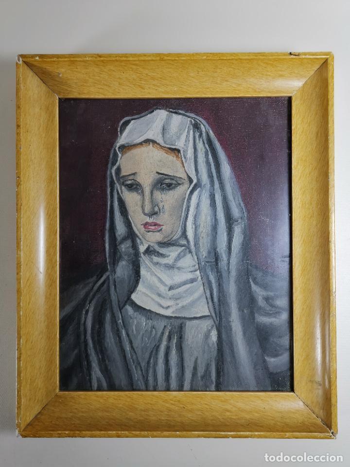 OLEO VIRGEN LLORANDO--DOLORES (Arte - Arte Religioso - Pintura Religiosa - Oleo)