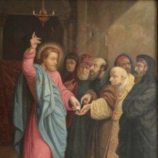 Arte: JOAN RIUTORT Y ARBÓS (MALLORCA, S. XIX). ESCENA RELIGIOSA. Ó/L. DATADA EN 1881. MIDE 82 X 62 CM.. Lote 244445515