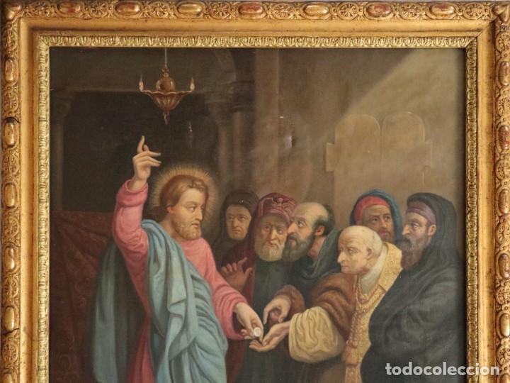 Arte: Joan Riutort y Arbós (Mallorca, S. XIX). Escena religiosa. Ó/L. Datada en 1881. Mide 82 x 62 cm. - Foto 4 - 244445515