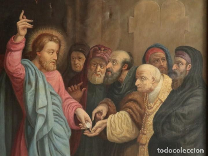 Arte: Joan Riutort y Arbós (Mallorca, S. XIX). Escena religiosa. Ó/L. Datada en 1881. Mide 82 x 62 cm. - Foto 7 - 244445515