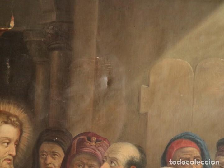 Arte: Joan Riutort y Arbós (Mallorca, S. XIX). Escena religiosa. Ó/L. Datada en 1881. Mide 82 x 62 cm. - Foto 8 - 244445515
