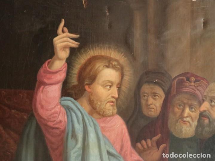 Arte: Joan Riutort y Arbós (Mallorca, S. XIX). Escena religiosa. Ó/L. Datada en 1881. Mide 82 x 62 cm. - Foto 10 - 244445515
