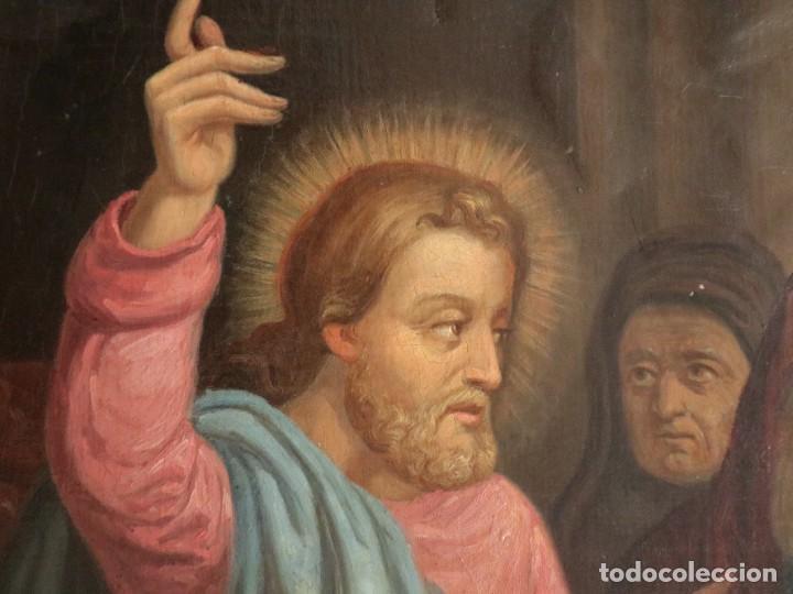 Arte: Joan Riutort y Arbós (Mallorca, S. XIX). Escena religiosa. Ó/L. Datada en 1881. Mide 82 x 62 cm. - Foto 11 - 244445515