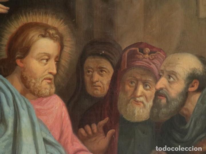 Arte: Joan Riutort y Arbós (Mallorca, S. XIX). Escena religiosa. Ó/L. Datada en 1881. Mide 82 x 62 cm. - Foto 12 - 244445515