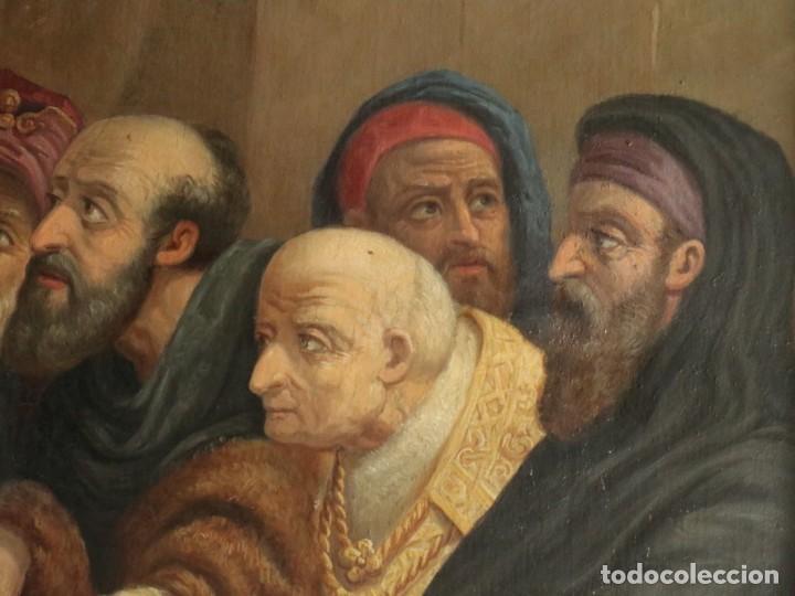 Arte: Joan Riutort y Arbós (Mallorca, S. XIX). Escena religiosa. Ó/L. Datada en 1881. Mide 82 x 62 cm. - Foto 13 - 244445515