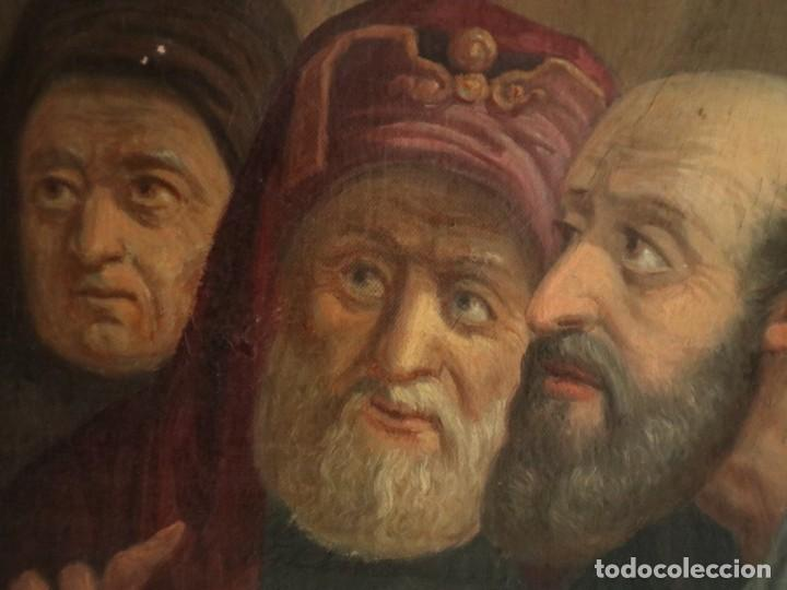 Arte: Joan Riutort y Arbós (Mallorca, S. XIX). Escena religiosa. Ó/L. Datada en 1881. Mide 82 x 62 cm. - Foto 15 - 244445515
