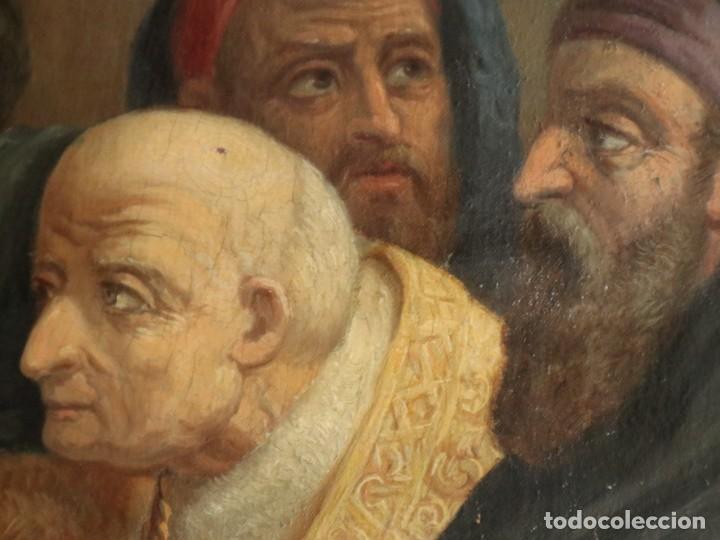 Arte: Joan Riutort y Arbós (Mallorca, S. XIX). Escena religiosa. Ó/L. Datada en 1881. Mide 82 x 62 cm. - Foto 16 - 244445515