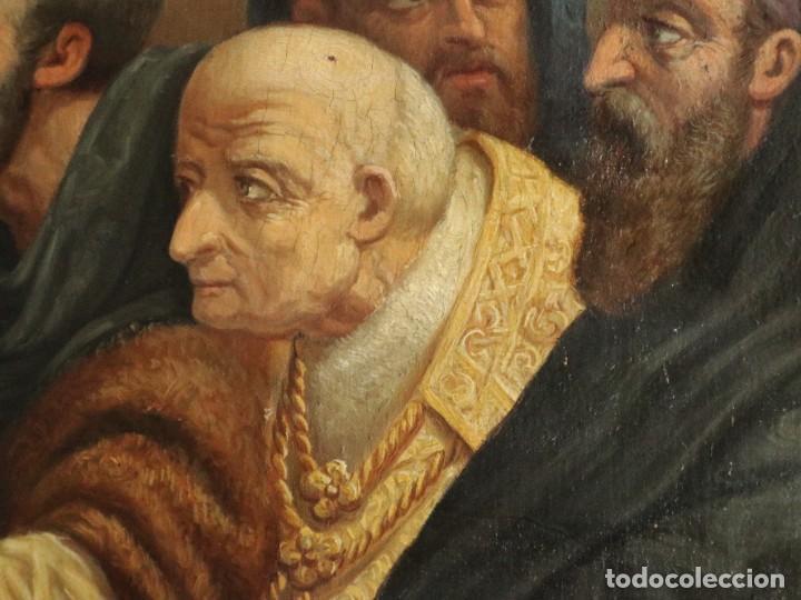 Arte: Joan Riutort y Arbós (Mallorca, S. XIX). Escena religiosa. Ó/L. Datada en 1881. Mide 82 x 62 cm. - Foto 20 - 244445515