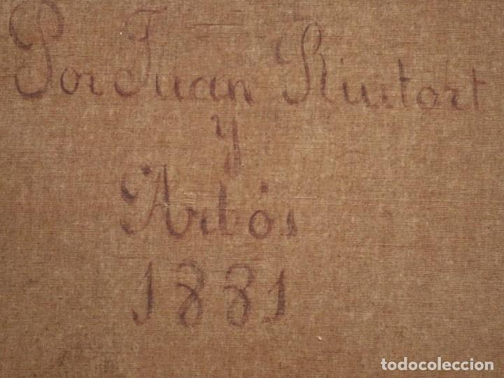 Arte: Joan Riutort y Arbós (Mallorca, S. XIX). Escena religiosa. Ó/L. Datada en 1881. Mide 82 x 62 cm. - Foto 24 - 244445515