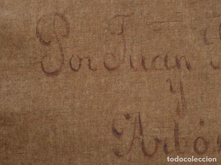 Arte: Joan Riutort y Arbós (Mallorca, S. XIX). Escena religiosa. Ó/L. Datada en 1881. Mide 82 x 62 cm. - Foto 25 - 244445515