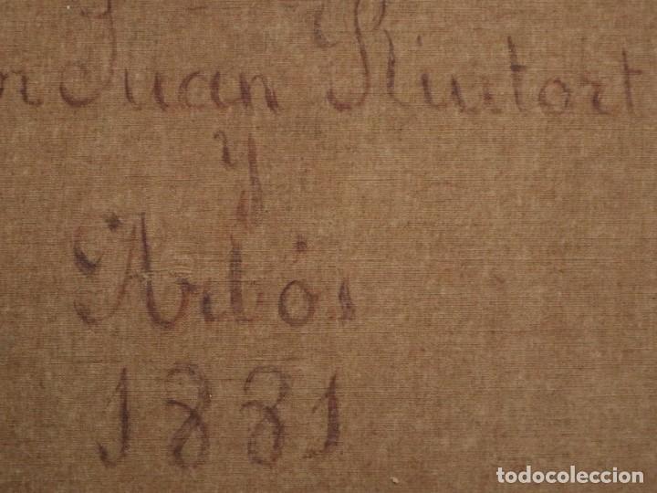 Arte: Joan Riutort y Arbós (Mallorca, S. XIX). Escena religiosa. Ó/L. Datada en 1881. Mide 82 x 62 cm. - Foto 26 - 244445515