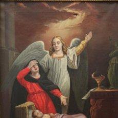 Arte: JOAN RIUTORT Y ARBÓS (MALLORCA, S. XIX). ESCENA RELIGIOSA. Ó/L. MIDE 82 X 62 CM.. Lote 244446860
