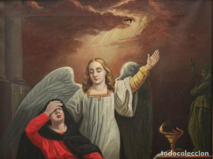 Arte: Joan Riutort y Arbós (Mallorca, S. XIX). Escena religiosa. Ó/L. Mide 82 x 62 cm. - Foto 7 - 244446860