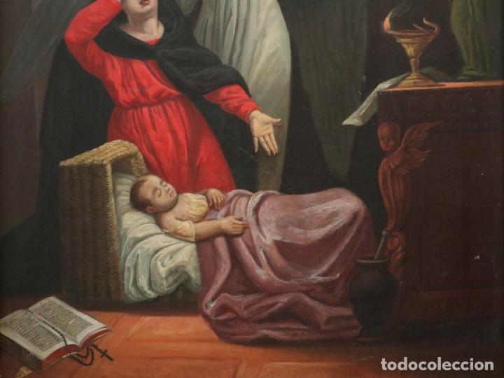 Arte: Joan Riutort y Arbós (Mallorca, S. XIX). Escena religiosa. Ó/L. Mide 82 x 62 cm. - Foto 8 - 244446860