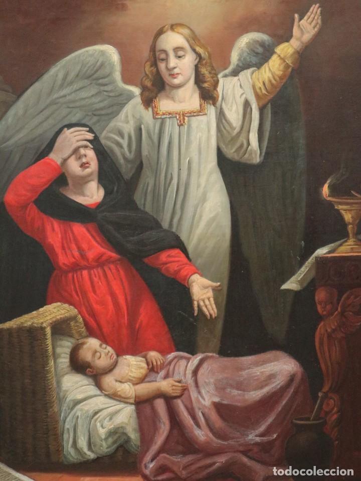 Arte: Joan Riutort y Arbós (Mallorca, S. XIX). Escena religiosa. Ó/L. Mide 82 x 62 cm. - Foto 9 - 244446860