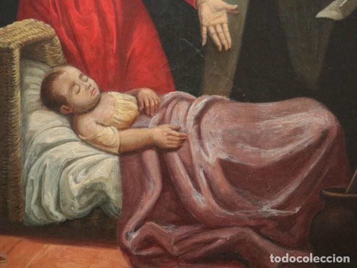 Arte: Joan Riutort y Arbós (Mallorca, S. XIX). Escena religiosa. Ó/L. Mide 82 x 62 cm. - Foto 10 - 244446860