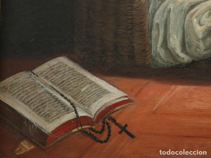 Arte: Joan Riutort y Arbós (Mallorca, S. XIX). Escena religiosa. Ó/L. Mide 82 x 62 cm. - Foto 12 - 244446860