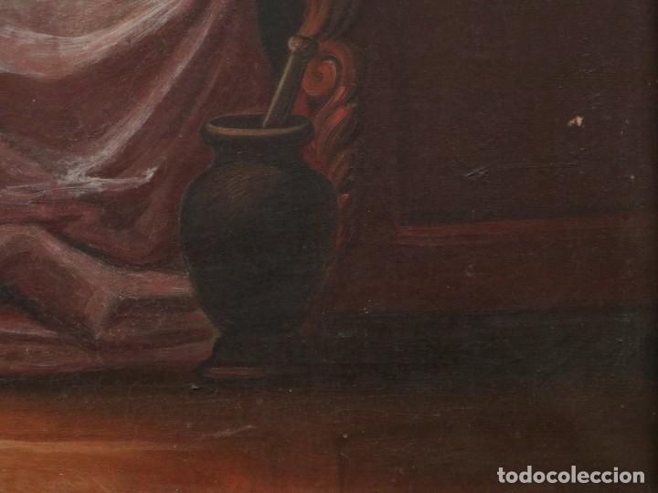 Arte: Joan Riutort y Arbós (Mallorca, S. XIX). Escena religiosa. Ó/L. Mide 82 x 62 cm. - Foto 13 - 244446860