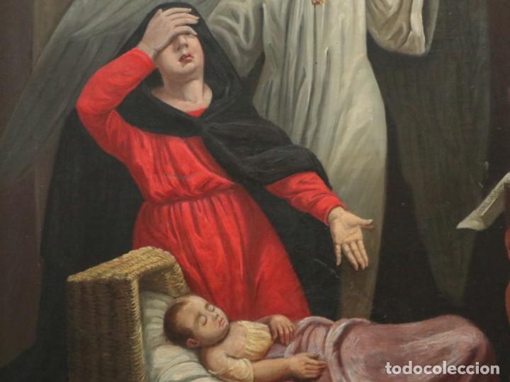Arte: Joan Riutort y Arbós (Mallorca, S. XIX). Escena religiosa. Ó/L. Mide 82 x 62 cm. - Foto 14 - 244446860