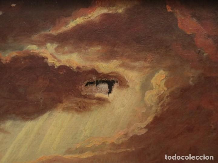 Arte: Joan Riutort y Arbós (Mallorca, S. XIX). Escena religiosa. Ó/L. Mide 82 x 62 cm. - Foto 17 - 244446860