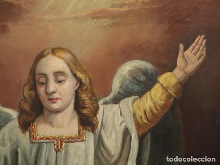 Arte: Joan Riutort y Arbós (Mallorca, S. XIX). Escena religiosa. Ó/L. Mide 82 x 62 cm. - Foto 18 - 244446860