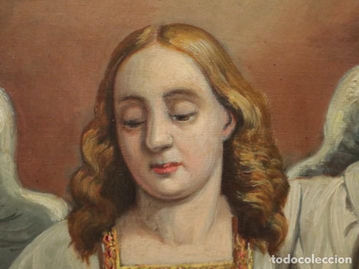 Arte: Joan Riutort y Arbós (Mallorca, S. XIX). Escena religiosa. Ó/L. Mide 82 x 62 cm. - Foto 19 - 244446860
