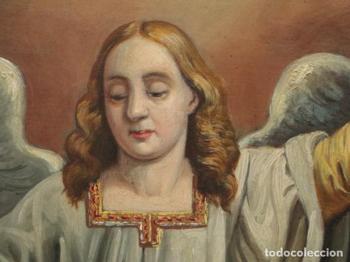 Arte: Joan Riutort y Arbós (Mallorca, S. XIX). Escena religiosa. Ó/L. Mide 82 x 62 cm. - Foto 20 - 244446860