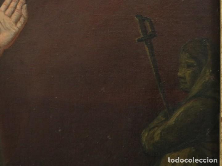 Arte: Joan Riutort y Arbós (Mallorca, S. XIX). Escena religiosa. Ó/L. Mide 82 x 62 cm. - Foto 22 - 244446860