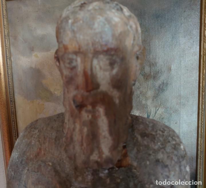 Arte: TALLA MADERA SAN GERÓNIMO ROMANICO GOTICO SIGLO XIV 72 CM - Foto 2 - 244492225
