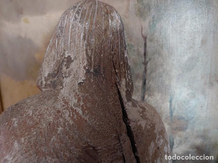 Arte: TALLA DE MADERA ROMANICA CRISTO REY SIGLO XIII XIV 67CM - Foto 22 - 244500990