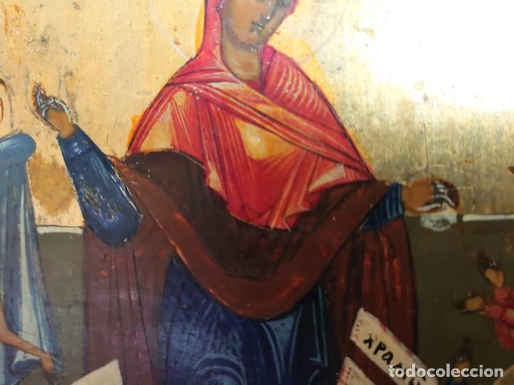 Arte: ICONO RUSO DE LA VIRGEN DE LA ALEGRIA DE TODOS LO QUE LLORAN SIGLO XIX - Foto 10 - 244516730