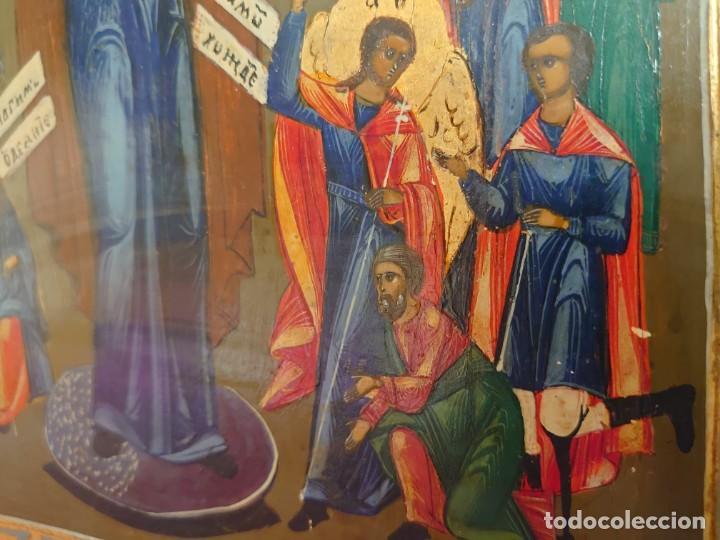 Arte: ICONO RUSO DE LA VIRGEN DE LA ALEGRIA DE TODOS LO QUE LLORAN SIGLO XIX - Foto 12 - 244516730