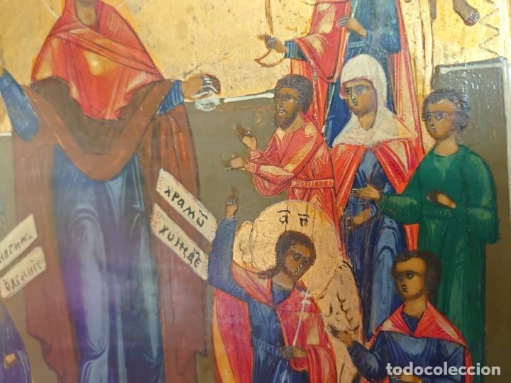 Arte: ICONO RUSO DE LA VIRGEN DE LA ALEGRIA DE TODOS LO QUE LLORAN SIGLO XIX - Foto 13 - 244516730