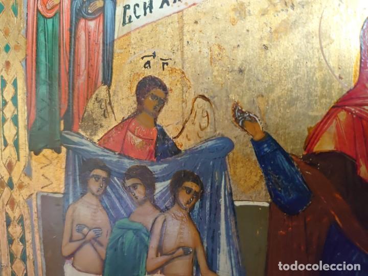 Arte: ICONO RUSO DE LA VIRGEN DE LA ALEGRIA DE TODOS LO QUE LLORAN SIGLO XIX - Foto 14 - 244516730