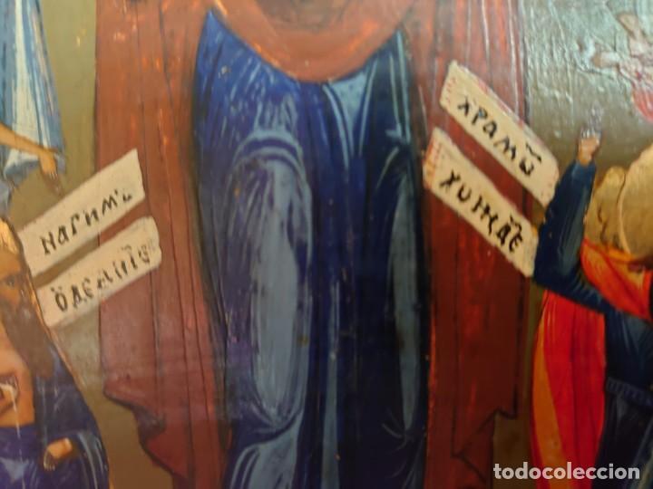 Arte: ICONO RUSO DE LA VIRGEN DE LA ALEGRIA DE TODOS LO QUE LLORAN SIGLO XIX - Foto 17 - 244516730