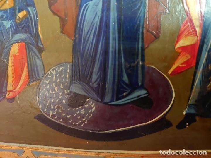 Arte: ICONO RUSO DE LA VIRGEN DE LA ALEGRIA DE TODOS LO QUE LLORAN SIGLO XIX - Foto 18 - 244516730