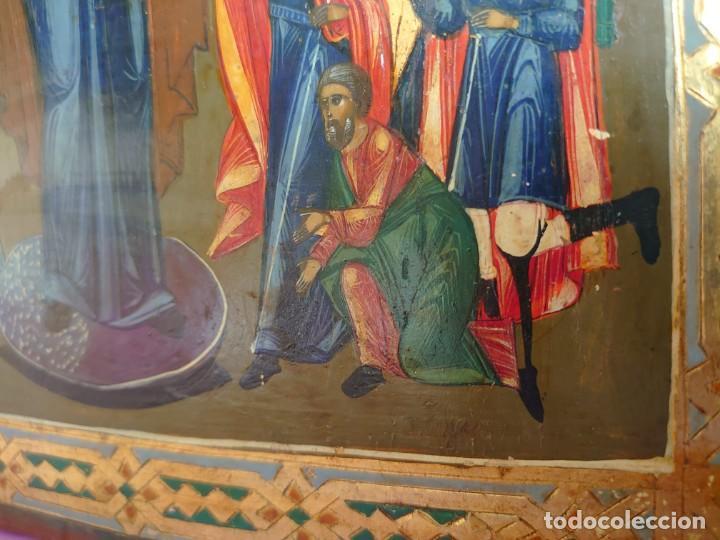 Arte: ICONO RUSO DE LA VIRGEN DE LA ALEGRIA DE TODOS LO QUE LLORAN SIGLO XIX - Foto 21 - 244516730