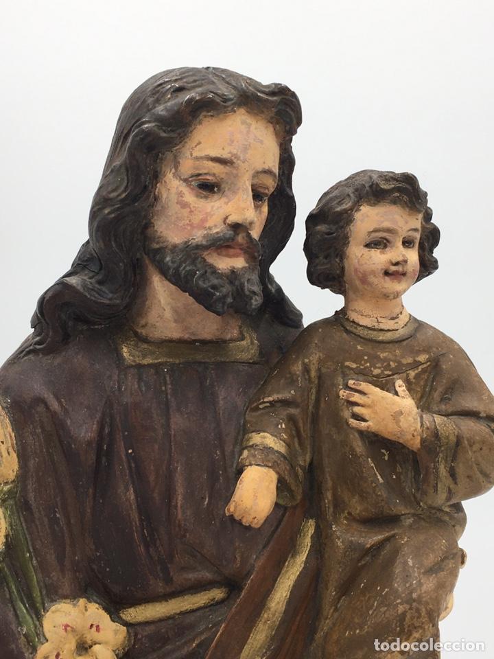 ANTIGUA ESCULTURA DE OLOT - SAN JOSE (Arte - Arte Religioso - Escultura)
