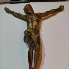 Arte: FIGURA DE CRISTO, BRONCE MACIZO. 830 GRAMOS. 23 CM.. Lote 244632420