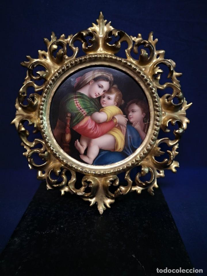 PINTURA RELIGIOSA SOBRE PLACA DE PORCELANA (Arte - Arte Religioso - Pintura Religiosa - Otros)